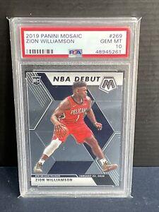 2019-Panini-Mosaic-Zion-Williamson-NBA-Debut-Rookie-RC-PSA-10-Gem-Mint-269