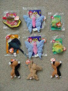 10d1edb41a0 La foto se está cargando NINE-9-MCDONALDS-TY-TEENIE-BEANIE-BABIES-HAPPY-
