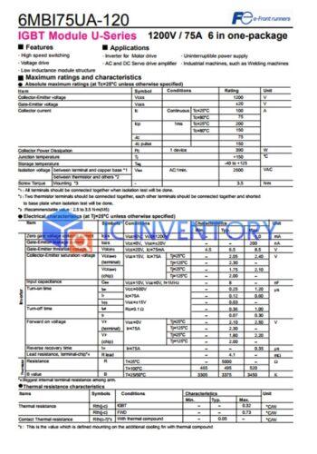 Fuji 6MBI75UA-120-50 módulo Fuente de alimentación de 1PCS nuevo 100/% garantía de calidad