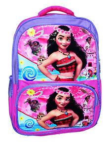 2db27eece0 Image is loading NEW-LARGE-KIDS-BACKPACK-DISNEY-MOANA-GIRLS-SCHOOL-
