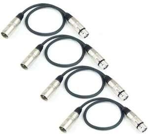Tv- & Heim-audio-zubehör Tv, Video & Audio Kenntnisreich 4 Stück 0,5 M Mikrofonkabel 3 Pol Adam Hall K3 Mmf 0050 Xlr Dmx Mikrofon Kabel Modernes Design