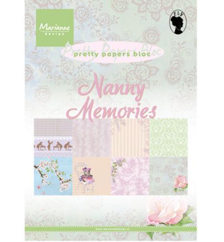 8 Motive Design Motivpapier DIN A5 Nanny Memories 32 Bogen