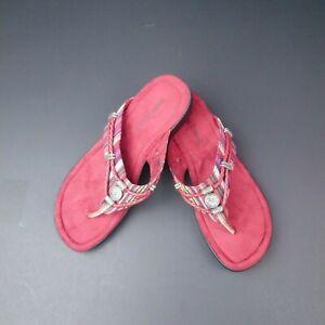 Minnetonka RAZ Sandals Red Size 6