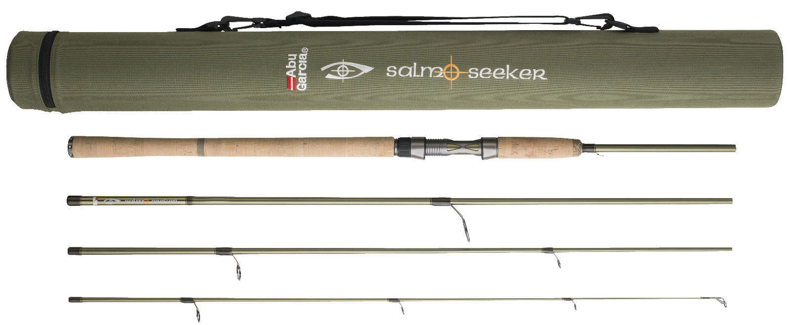 Abu Garcia Salmo  Seeker Spin 8ft, 9ft & 10ft 4 Piece Carbon Spinning Fishing Rod  in stadium promotions