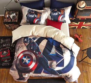 Capitan-America-Letto-Copri-Piumino-Copripiumone-Lenzuolo-Duvet-Cover-SERDU05