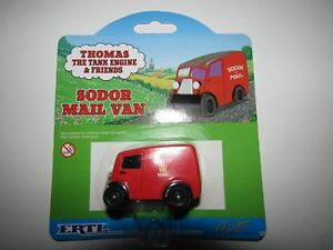 Thomas-the-Tank-Engine-and-Friends-ERTL-Sodor-Mail-Van-SEALED-ON-CARD