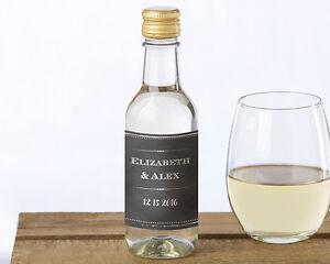 Image Is Loading 24 Personalized MINI Wine Bottle Labels Bridal Shower