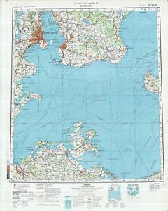 Denmark Topographic Map.Russian Soviet Military Topographic Maps Kobenhavn Denmark 1