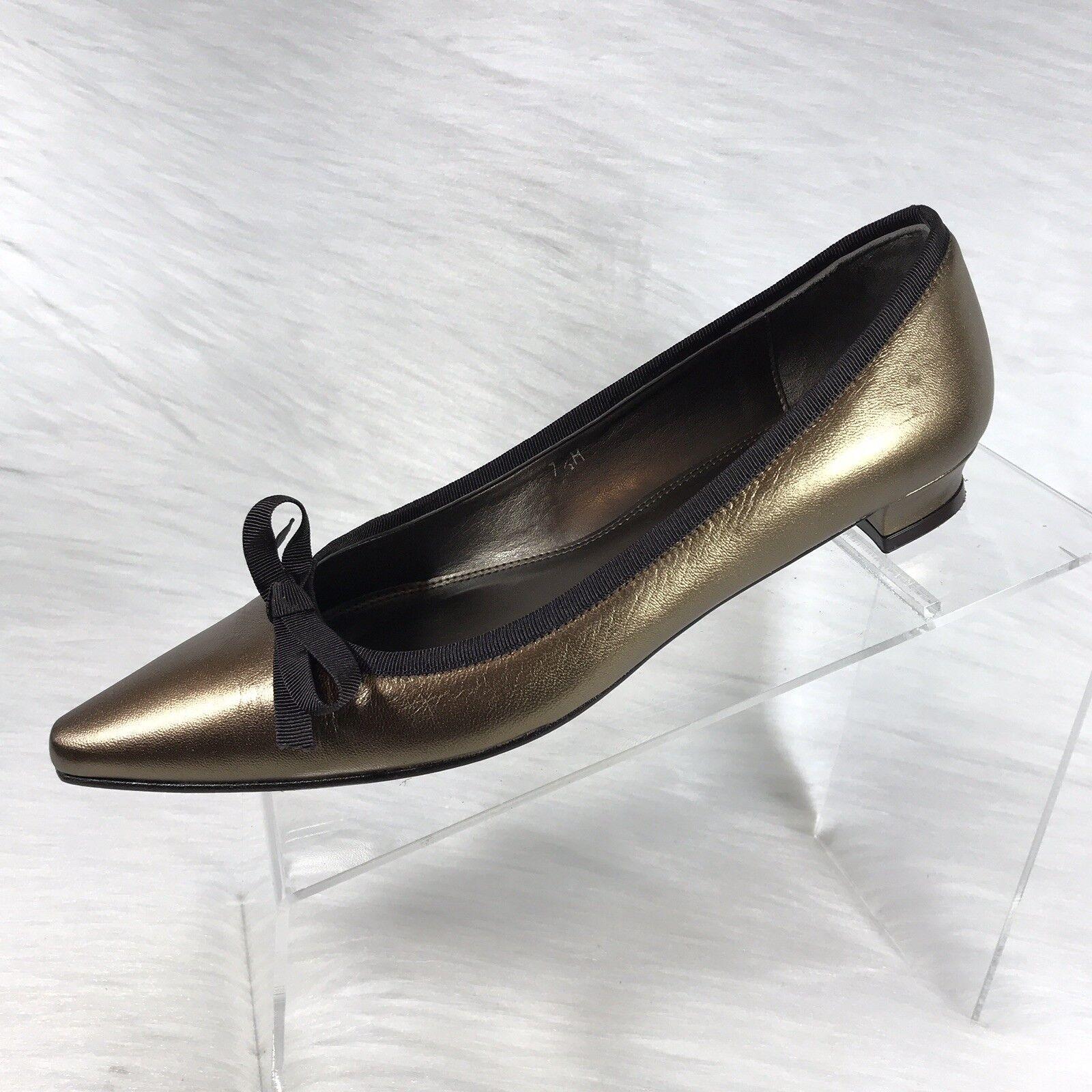 Talbots Women's pumps Bronze Leather Low Heel Size 7.5 M