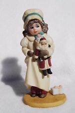 JAN HAGARA COLLECTABLES PORCELAIN FIGURINE - NIKKI - CHRISTMAS  - 1988 - RARE
