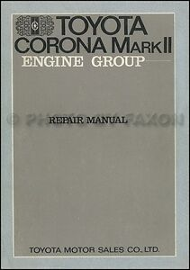1969 1970 1971 toyota corona and mark ii engine repair manual 6r 7r rh ebay com toyota corolla repair manual online toyota corolla repair manual torrent