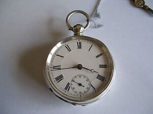 RARE-ANTIQUE-STERLING-SOLID-SILVER-POCKET-WATCH