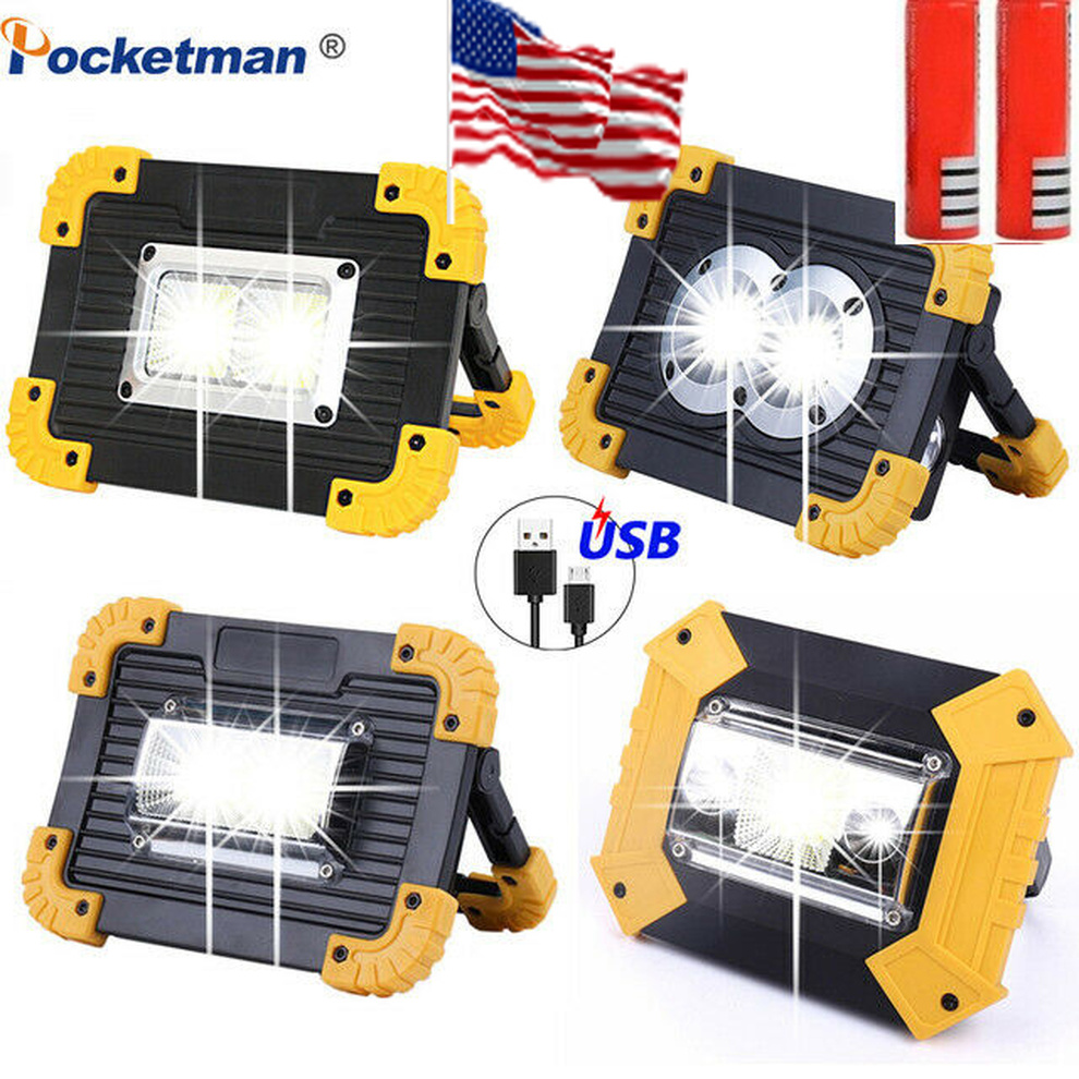 Bright 100000LM LED Work Light Rechargeable Portable Camping