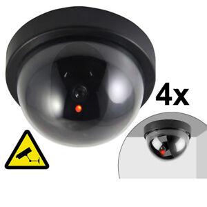 4x-Fake-Dummy-CCTV-Dome-Security-Camera-Flashing-LED-Warning-Sign-UKED