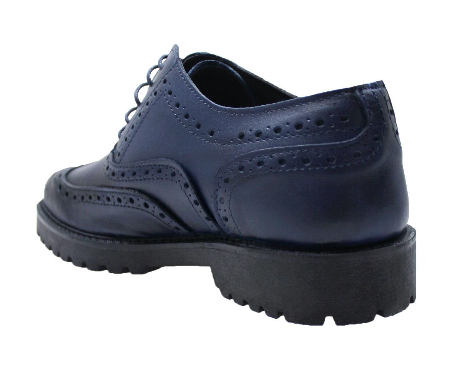 Herrenschuhe Paris blau Leder Schuhe Casual hergestellt in 45 ITALY da 39 a 45 in 6819bf