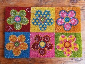 Türmatte Bunte Blumen 60 x 40 cm Fußmatte Schmutzfänger Fußabtreter Sommer