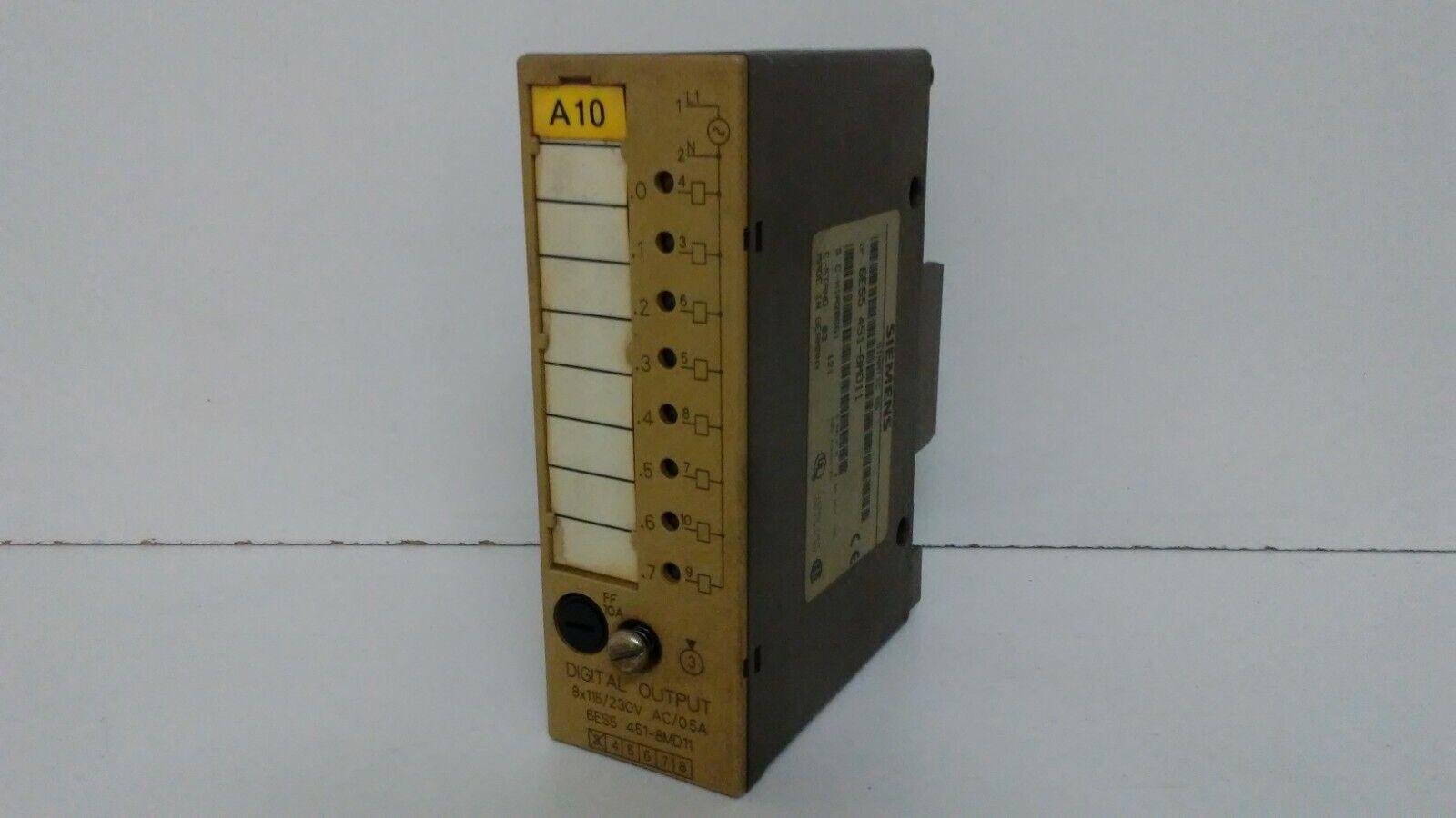 SIEMENS DIGITAL OUTPUT MODULE  USED 6ES54518MD11 6ES5451-8MD11