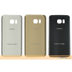 best sneakers fdf35 22469 Details about Original Battery Back Door Glass Cover For Samsung Galaxy S7  Edge Verizon G935V