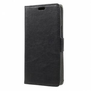 Housse-pour-HTC-U11-Life-noire-folio-grainee