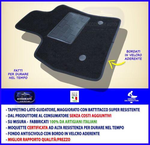 Tappetino lato guidatore Fiat 500L 2012/> 1 Tappeto auto tappeti su misura grip