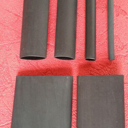 0,6m Schrumpfschlauch mit Kleber 32mm schwarz 4:1