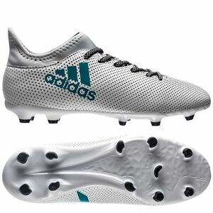 8bf6435f48e6 adidas X 17.3 FG 2017 Soccer Shoes Cleats White / Turquoise Kids ...