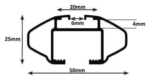 Alu relingträger VDP crv107a Opel Mokka x 5 puertas a partir de 2014 90kg abschliessbar