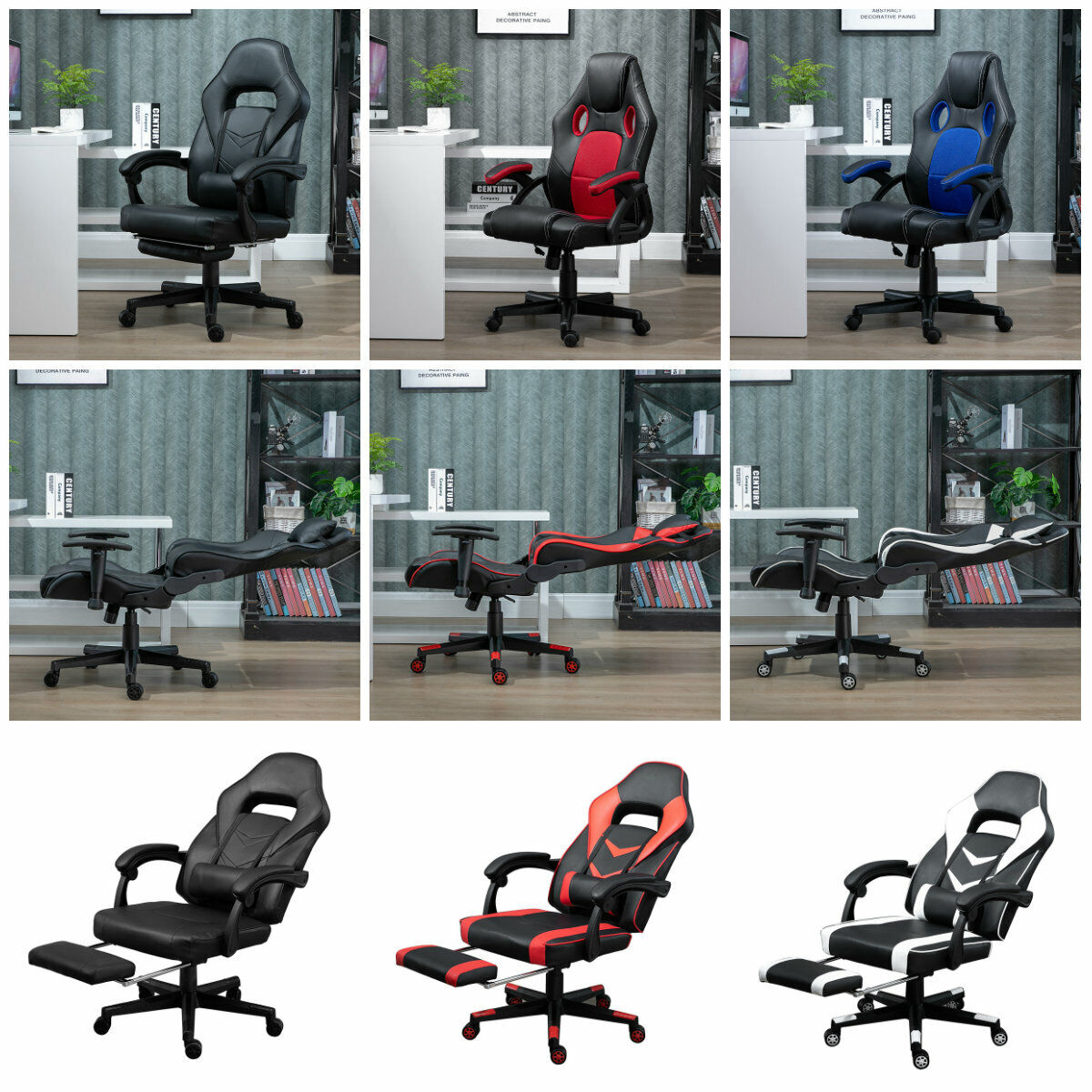 Headrest Lumbar Pillows Set Replacement Ak Dk Racer Suede Gaming Chairs Pillow For Sale Ebay