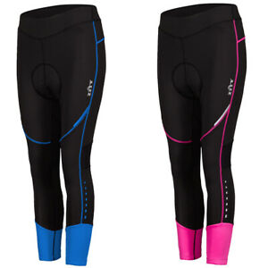 Women-3-4-Length-Workout-Sport-Cycling-Pants-Bike-Cycle-Padded-Tights-Trousers
