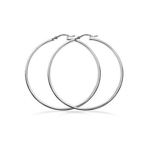 1 Inch Round Hoops Earrings In Real Sterling Silver