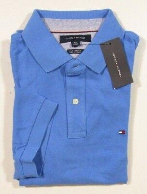Tommy Hilfiger Men's Regatta Blue Custom Fit Mesh Short Sleeve Polo Shirt | eBay