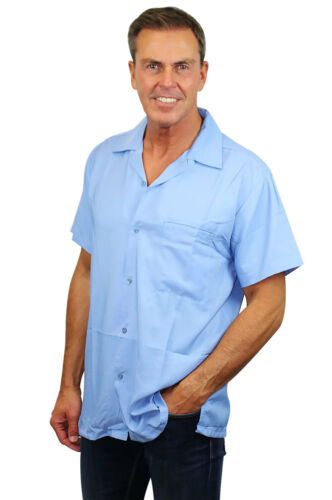 Funky Hawaiian Shirt Blanc Light Blue