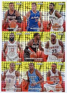 295-different-2014-15-Panini-Prizm-Basketball-Yellow-Red-Mosaic-Prizm-Card-Lot