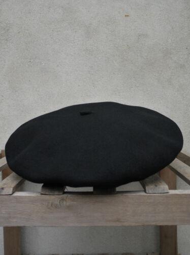 Alpine Basque Beret in Black 100/% Virgin Wool by Elosegui Made in Spain