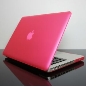new product b24be 0c828 Details about Rubberized HOT PINK Hard Case Cover for Macbook PRO 13