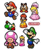Super Mario World Paper Mario Set Iron On T Shirt Pillowcase Fabric Transfer 1