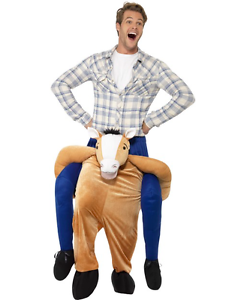 Image is loading Adults-Fancy-Dress-Piggyback-Horse-Step-in-Costume-