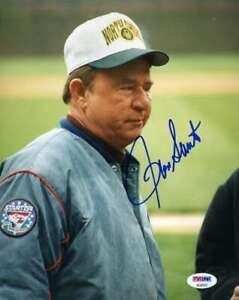 Ron Santo Psa Dna Coa Autograph 8x10 Photo  Hand Signed Authentic Chicago