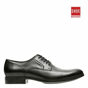 Clarks CONWELL PLAIN Black Mens Lace-up Dress/Formal Leather Shoes