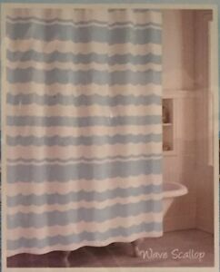 Image Is Loading Destinations CHF Wave Scallop Cotton Fabric Shower Curtain