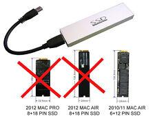 Boitier Aluminium USB 3.0 Pour SSD MACBOOK ANNEE 2010/2011 SSD 6+12 PIN