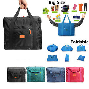 Waterproof-Big-Travel-Storage-Luggage-Carryon-Foldable-Organizer-Hand-Duffle-Bag