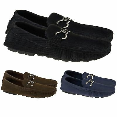 GroßZüGig New Mens Faux Suede Casual Loafers Moccasins Slip On Driving Shoes Uk Sizes 5-10 SorgfäLtige Berechnung Und Strikte Budgetierung