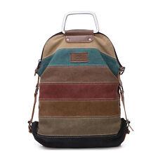 Women Canvas Rucksack Satchel Travel Hiking Shoulder Bag Crossbody Tote Handbag