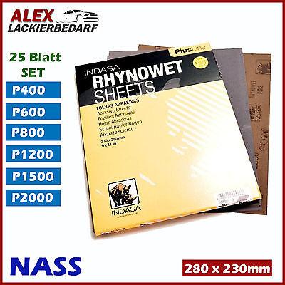 Indasa Naßschleifpapier 50x Bogen 230x280mm P2000 schleifpapier wasserfest