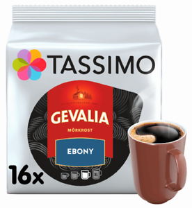 1 x Pack Tassimo Gevalia Ebony Morkrost T Discs Pods - 16 Drinks