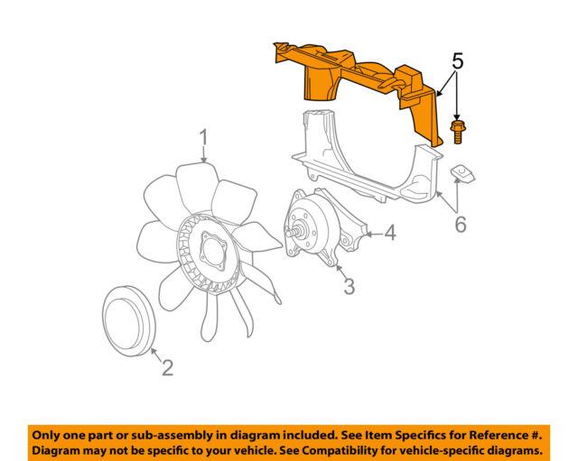 GM OEM Cooling Fan-Radiator Upper Shroud 25868538