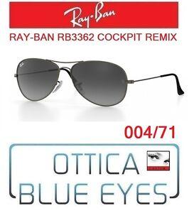 237dd4c391 Occhiale da Sole RAYBAN RB3362 004 71 COCKPIT REMIX Sunglasses Ray ...