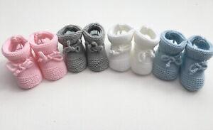 Baby Girls Boys Newborn Knitted Booties
