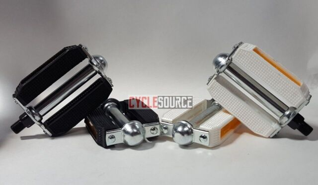 "Bicycle VP-565 Alloy Pedals 1//2/"" White MTB BMX Chopper Bike Cycling"